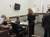 Megan talks to opposing council