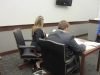 Alexis and Wes before court begins