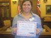 Sarah with award