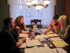 Student attorneys work on this year\'s mock trial case.