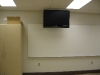 New classroom with whiteboard and flat screen television