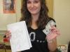 Brianna won the bookcover prize